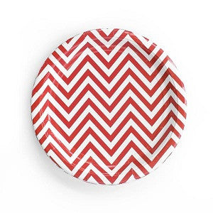 Chevron Red Plates