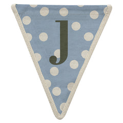 Fabric Bunting Letter J