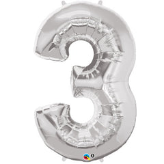 "16"" Number Balloons - Silver"