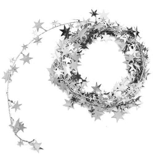 Silver Wire Star Garland