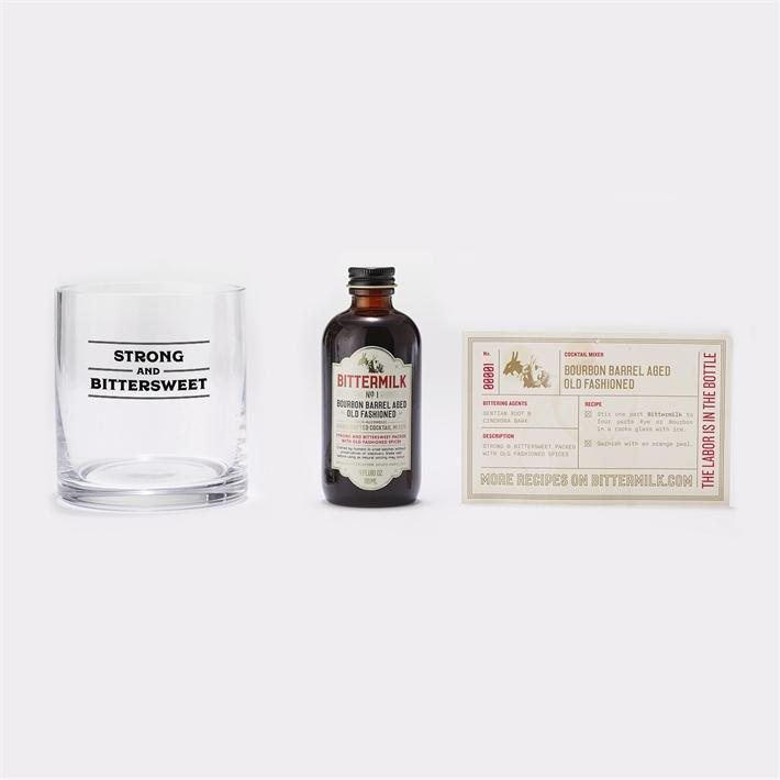 Bittermilk Cocktail Gift Set - Bourbon Barrel Aged Old Fashioned