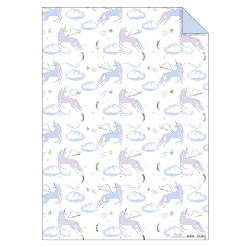 Iridescent Unicorn Gift Wrap Sheet