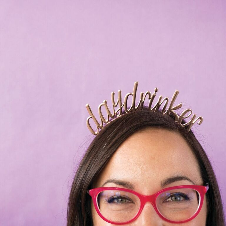 """Day Drinker"" Metal Headband from Jollity & Co"
