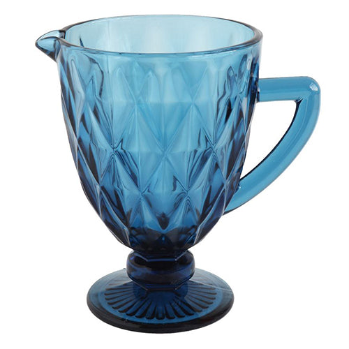 Vintage Blue Glass Pitcher