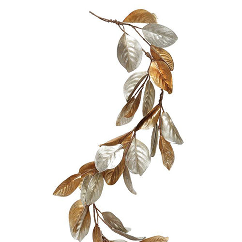 Gold and Silver Magnolia Garland