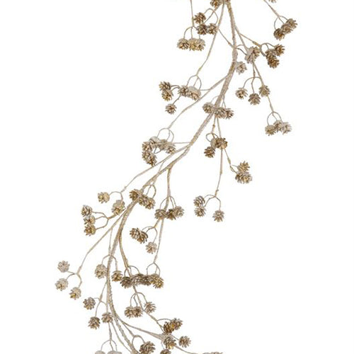 Silver Pinecone Garland