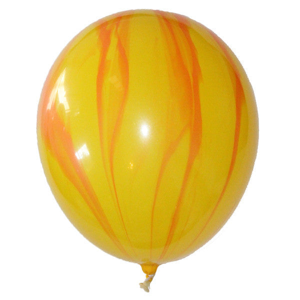 Balloon Pack - Yellow & Orange Marbled