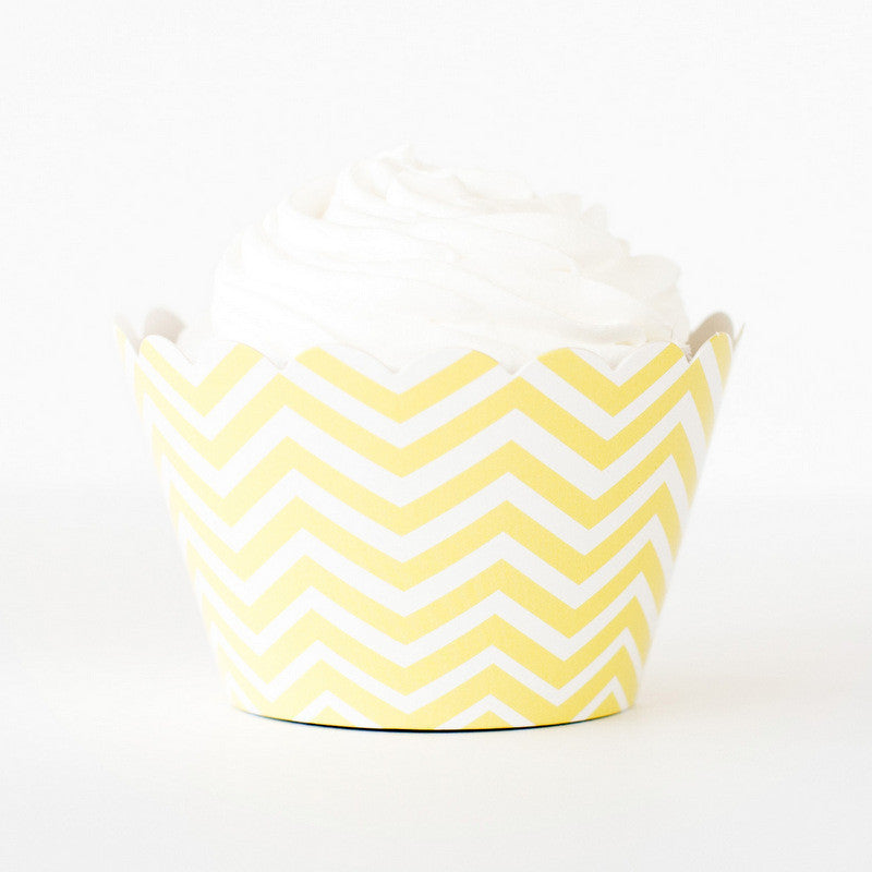 Chevron Yellow - Baking Cups