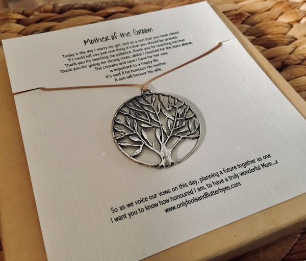 Mother of the Groom - poem and Tree of Life keepsake