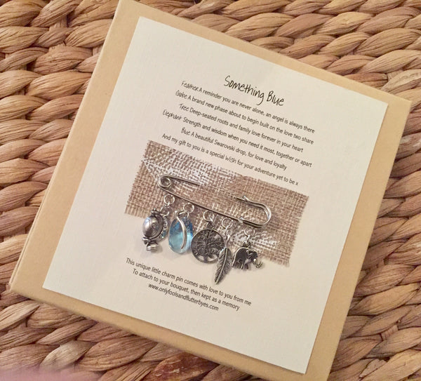 Something Blue, unique modern day gift for the bride