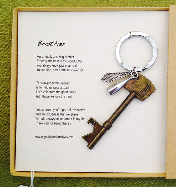 Brother - sentimental bottle opener gift for a brother