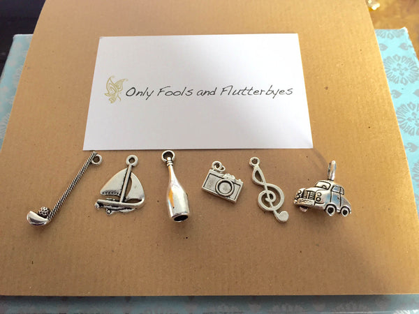 Choose your charms - a unique and personalised Fathers Day bottle opener gift