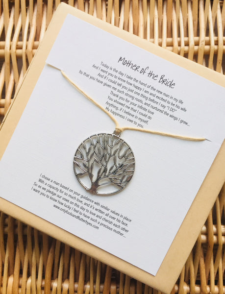 Mother of the Bride - poem and Tree of Life keepsake