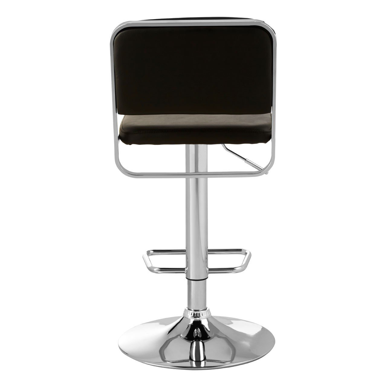 Stockholm Black Seat / Chrome Base Bar Stool