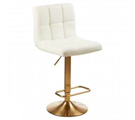 Bari White Gold Stool (Pair)