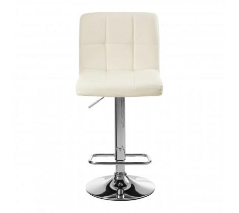 Bari White Chrome Stool (Pair)