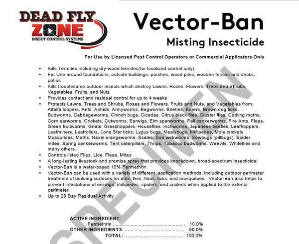 SYSTEM REFILL For Equine Insect Misting Systems-- For Use in Barns, Stables, Etc. - Dead Fly Zone