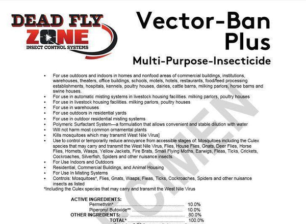 SYSTEM REFILL For Residential Insect Misting Systems- For Use Around Pools, Patios, Decks, Etc. - Dead Fly Zone