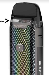 Vaporesso Luxe PM40 see through pod contents