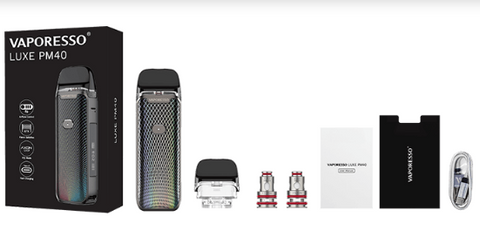 Vaporesso Luxe PM40 Retail Box Kit Comes With
