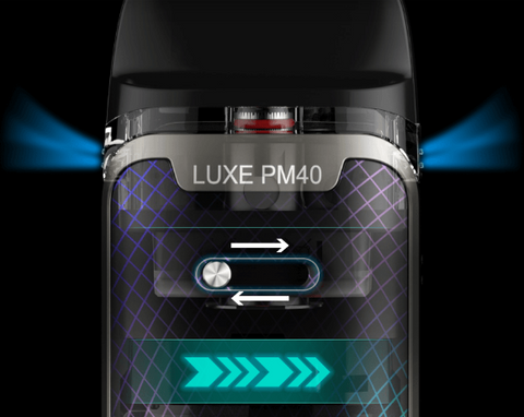 vaporesso luxe pm40 adjustable airflow