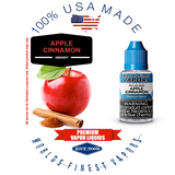 Apple Cinnamon - wfvapors - 1 natural apple and natural cinnamon flavor vape ejuice vapor juice eliquid 100% Made in America.