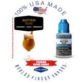 Butter Rum - wfvapors natural butter rum flavor sweet, creamy vape with hints of caramel vape ejuice vapor juice eliquid USA
