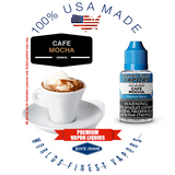 Cafe Mocha - wfvapors natural premium cocoa and fresh coffee flavor vape ejuice vapor juice eliquid nicotine strength variety