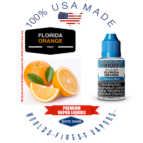 Florida Orange - wfvapors natural orange oils fresh in season natural citrus flavor vape ejuice vapor liquid juice eliquid