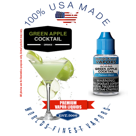 Green Apple Cocktail - wfvapors crisp sour green apple cocktail no alcohol delivers refreshing balanced natural flavor ejuice