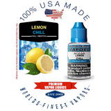 Lemon Chill - wfvapors Natural Lemon with smooth airy menthol Vapor Cigarette E juice vape eliquid vapor liquid American made
