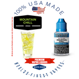 Mountain Chill - wfvapors crisp fresh citrus soda vape juice chilled cool menthol air balanced natural menthol flavor ejuice.