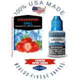 Strawberry Chill - wfvapors Natural strawberry with smooth airy menthol Vapor Cigarette E juice vape eliquid vapor liquid