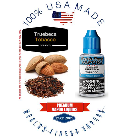 Truebeca Tobacco - wfvapors Classic trubeca Natural Vapor cigarette E juice vape eliquid mildly sweet bold nutty and toasted
