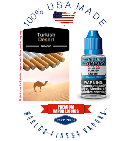Turkish Desert - wfvapors Classic American Turkish Blend Natural Vapor cigarette E juice vape eliquid 100% Made in the USA