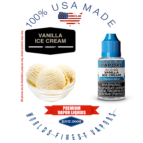 Vanilla Ice Cream - wfvapors natural vanilla and cream natural flavor vape ejuice vapor juice eliquid 100% Made in America