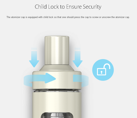 Joyetech AIO Child Lock Feature