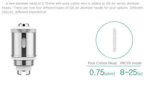 Authentic Eleaf GS Air Atomizer Head - wfvapors - 1