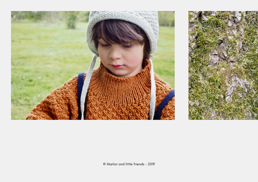 Look book Marlon and little friends AW19 collection Hand knits