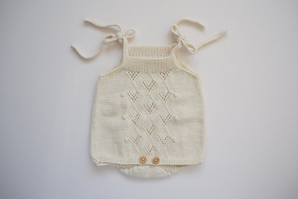 'Suzon' Romper - Chalk - NB to 18m-2y - 30% off