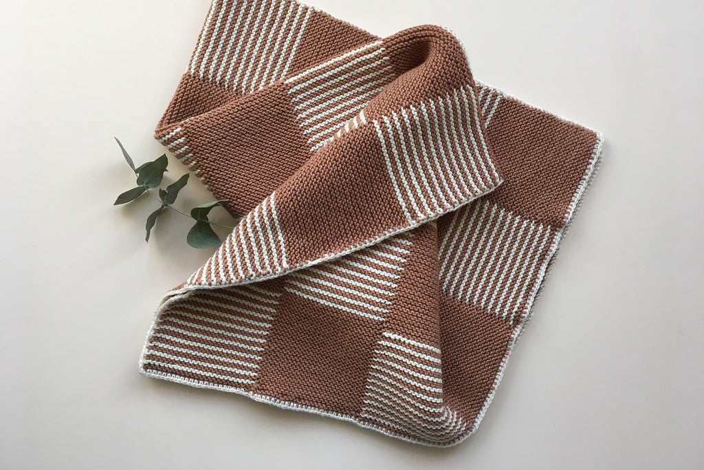 Pram baby blanket - Caramel&Cream - Only 1 left! 60x80cm - 50% off