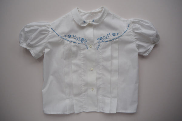 Blouse with embroidery - 'Cécile' - 5/6y