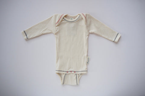 Body in Organic Cotton - Natural - 0/3m to 6-12m - By Engel