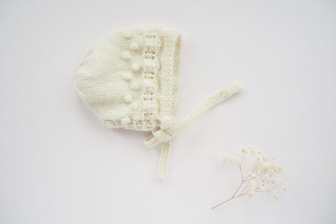 'Manon' Bonnet - Milk - Newborn