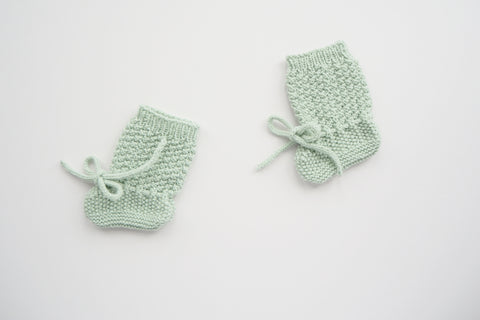 'Françoise' Booties - Mint - 3m to 12m
