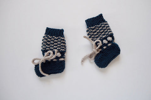Booties 'Anni' - Midnight & Frost - 0/3 months to 6/12 months - 30% off