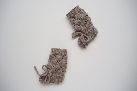 'Colette' Booties - Stone - 0-6m & 6-12m
