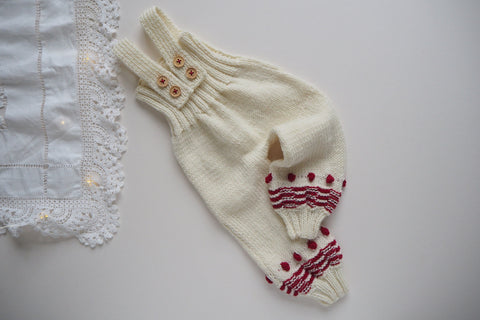 'Christmas' Dungarees - 0/3m to 6/12m - 30% off