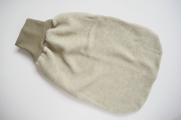 Baby Carry Nest - Wool & Organic Cotton Fleece - Latte - 50cm - By Cosilana