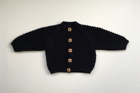 Cardigan 'Romarin' - Elderberry - 0/3m  and 6/12m - 50%off